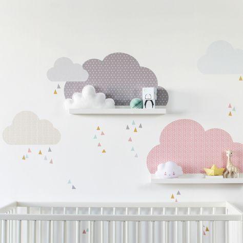 Piegate ogni foglio e ritagliate la sagoma. Nuvolette Nella Cameretta 15 Idee Per Decorare La Camera Del Bimbo