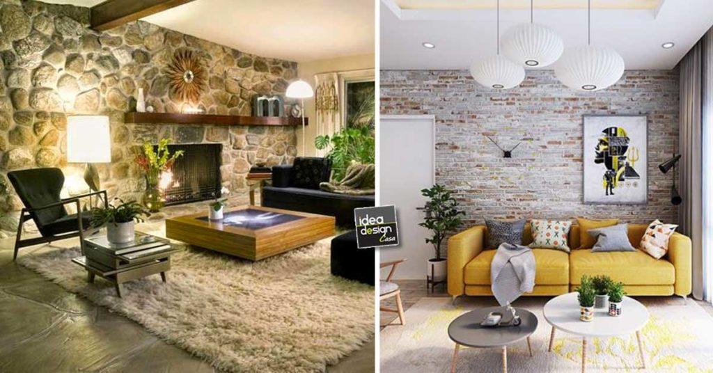 in soggiorno ad esempio si potrebbe decidere di fare una parete in pietra con un arco se avete scelto di dividere la cucina da salotto. Rivestimenti In Pietra 15 Decorazioni Che Arredano Il Soggiorno Con Calore