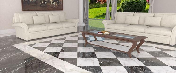 Pavimenti bianchi e neri in soggiorno 15 idee a cui ispirarvi