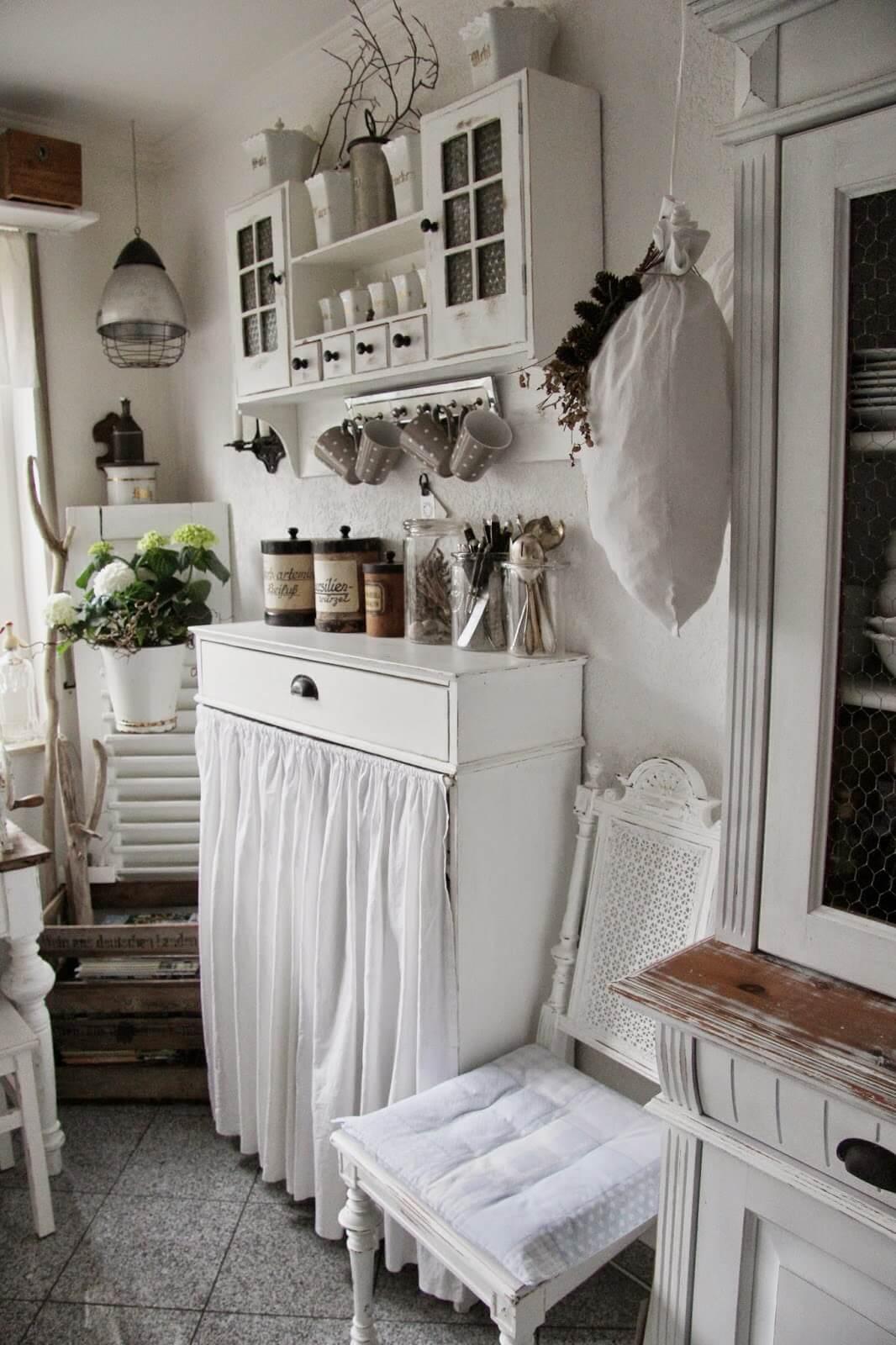 Tende shabby chic per bagno. Le Cucine Country 20 Idee Per Un Arredamento Perfetto