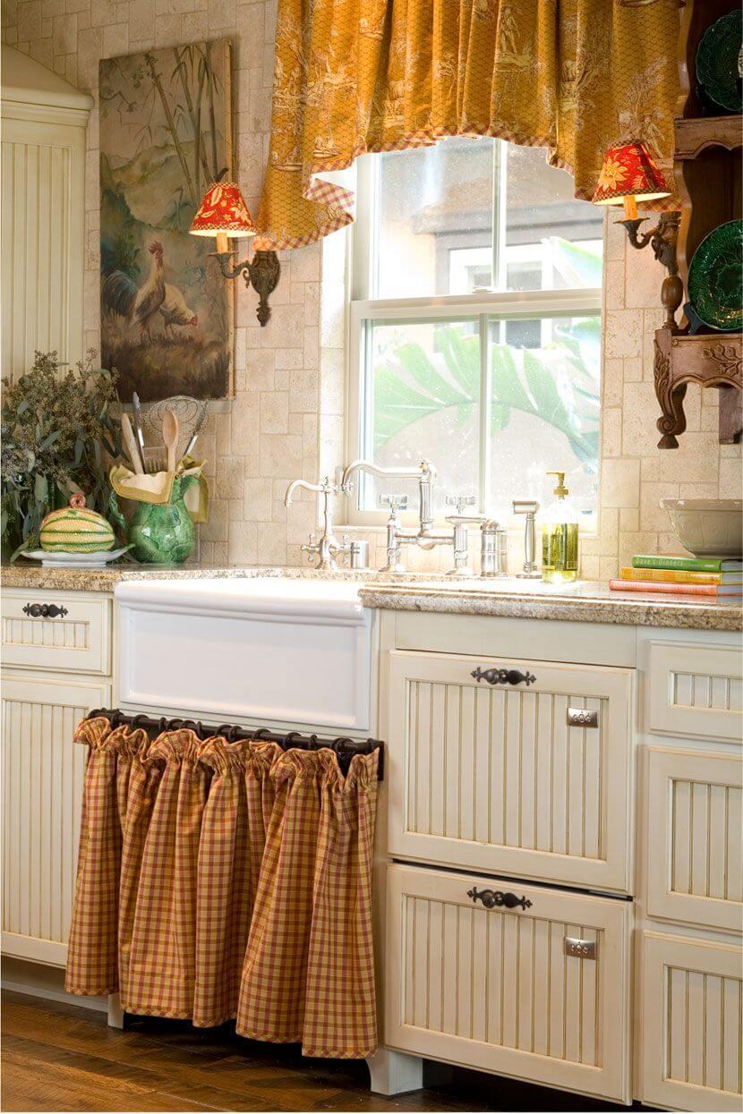 7 stile provenzale per la cucina; Una Tendina Sottolavello Fai Da Te Il Tocco In Piu Nella Tua Cucina 20 Idee