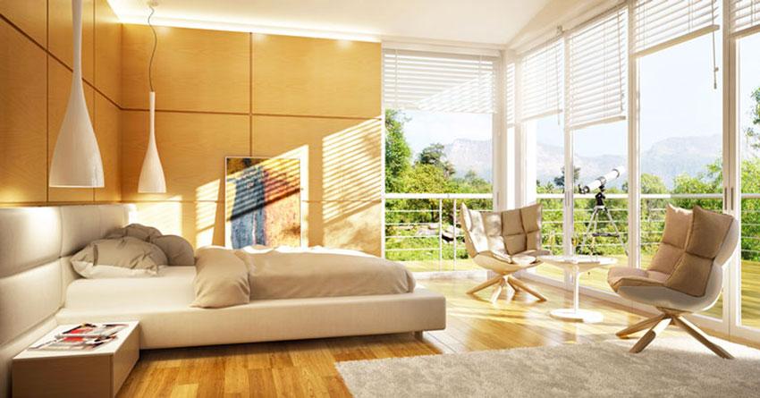Camera da letto scandi con tessili bianchi e parquet; Camere Da Letto Moderne 70 Idee Da Sogno Per Una Camera Perfetta