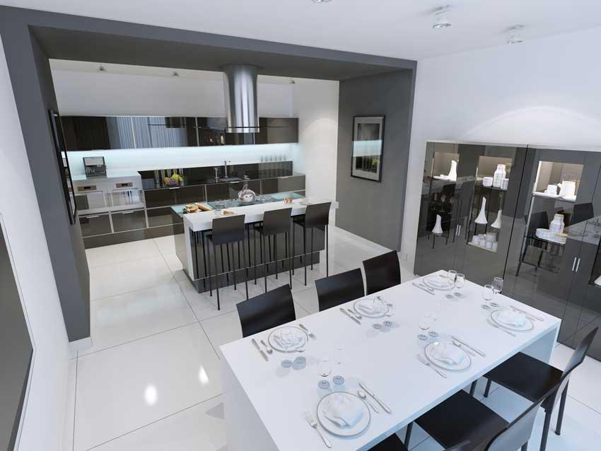 Le cucine con isola e penisola moderne 30 idee per una