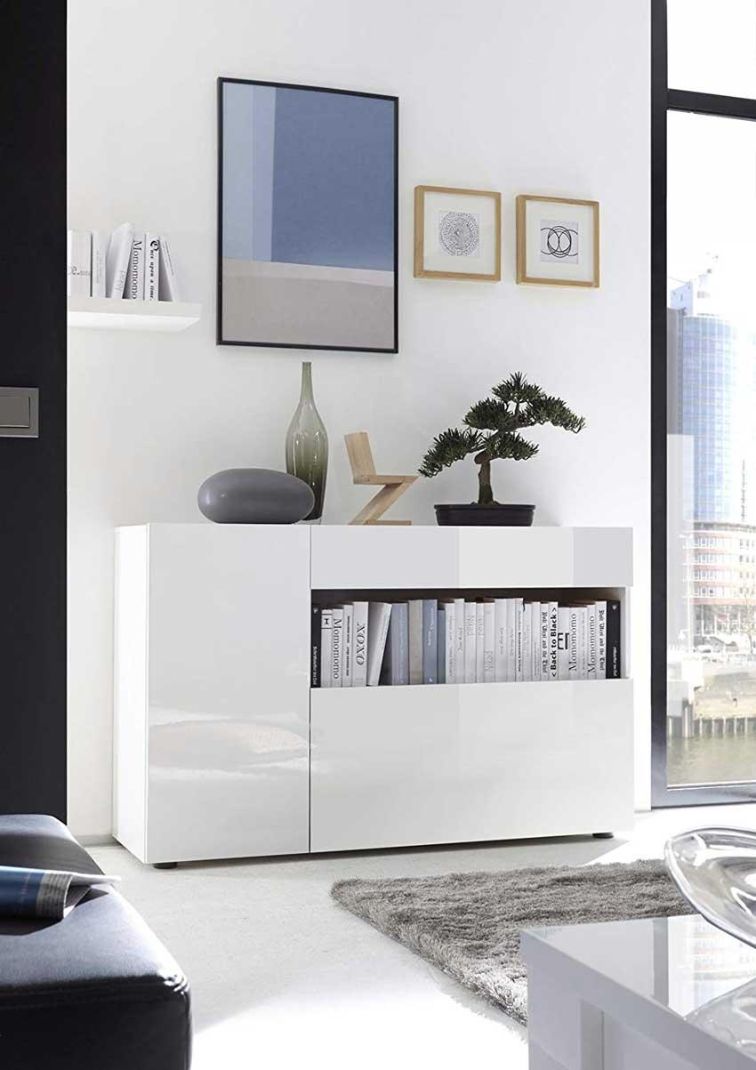 Parete attrezzata per soggiorno design moderno bianca laccato manhattan. Soggiorni Moderni 50 Idee Per Un Arredamento Moderno In Salotto