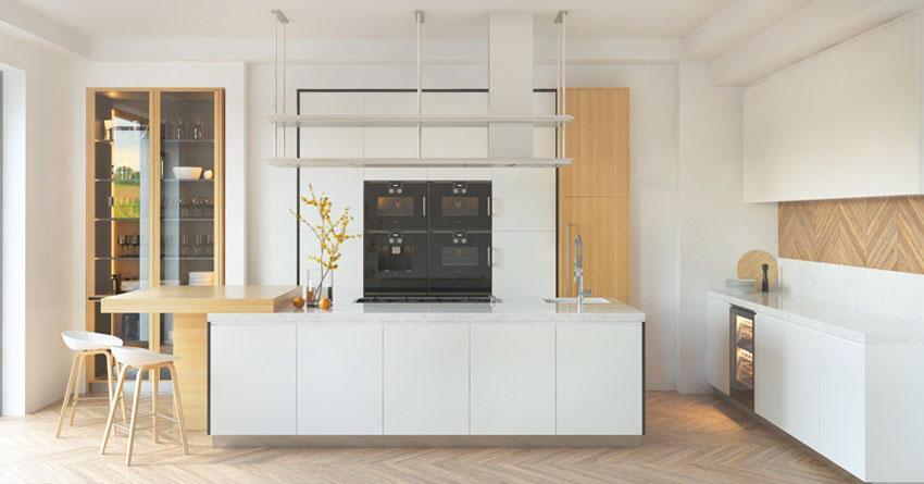 Piastrelle, legno o gres porcellanato? La Cucina Bianca 25 Idee Moderne Per Contrastarla Con Un Tocco Di Colore