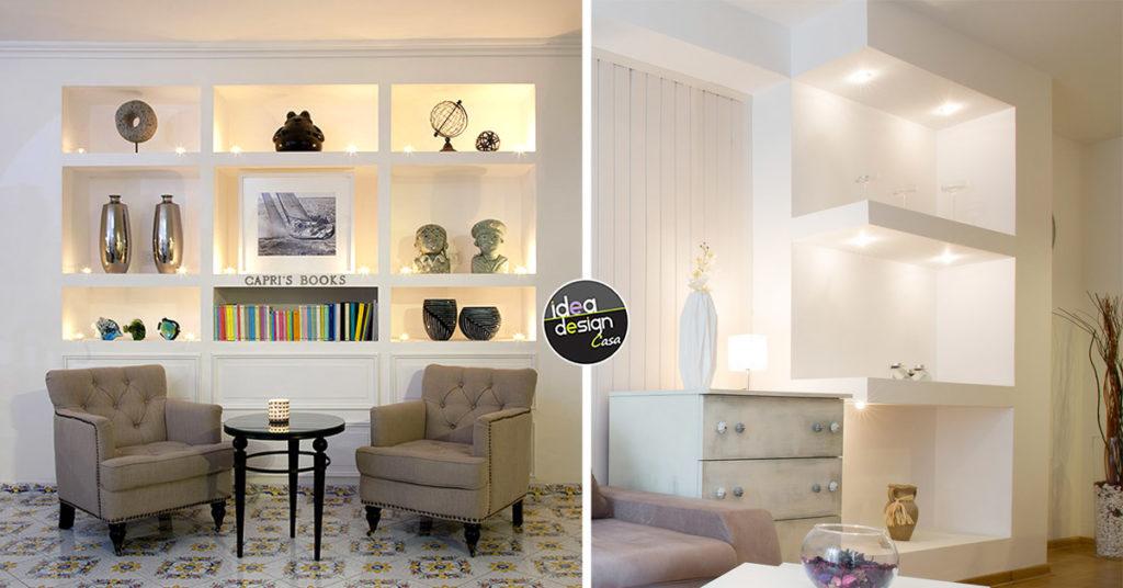 Parete attrezzata porta tv e pc; Le Mensole In Cartongesso Per Una Casa Moderna 20 Idee Stilose