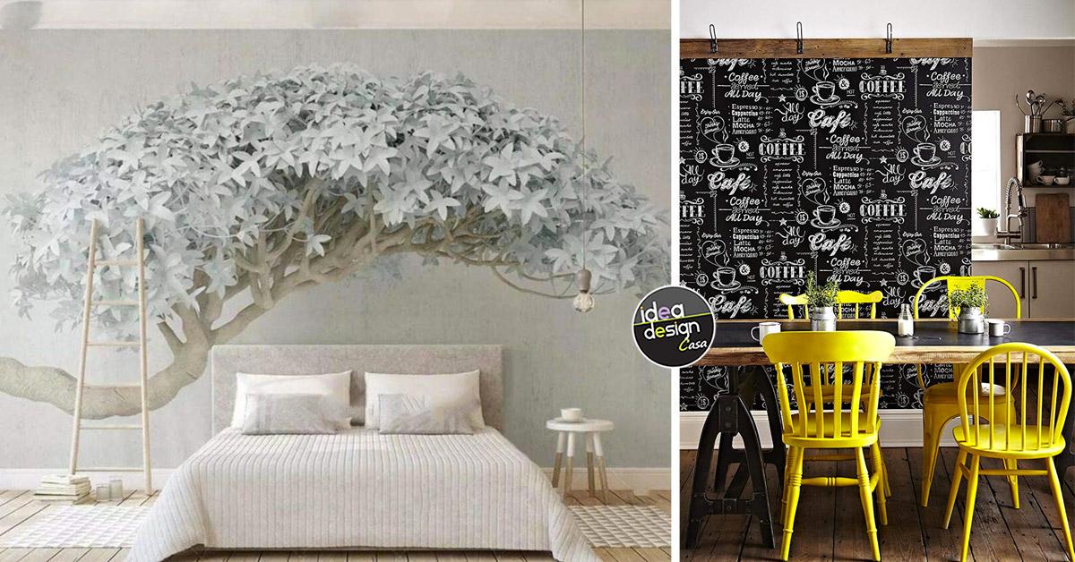 Potete decorare una sola parete oppure tutte quante, così come più vi piace. Carta Da Parati Moderna 22 Idee Per Una Parete Bella E Originale