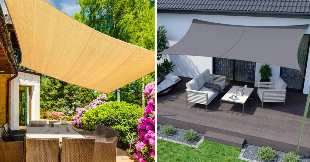 Vela ombreggiante hegoa triangolare bianco 360 x 360 cm. 9 Idee Per Creare Una Zona D Ombra In Giardino O Sul Terrazzo Con Le Tende A Vela