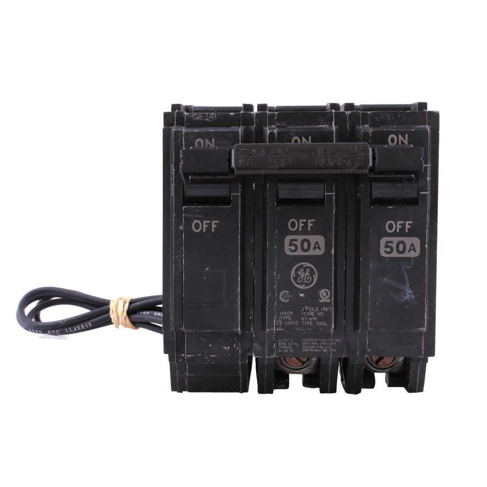 hight resolution of geg thql2150st1 2p 50a 240v plug in shunt trip circuit breaker 120v shunt