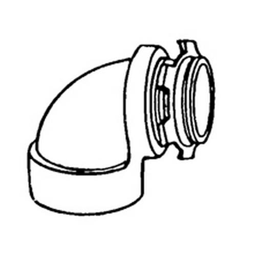 Appleton® LMF90-50L Non-Insulated Conduit Elbow, 1/2 in