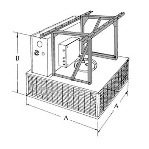 TPI A1600 DOWNFLOW UNIT HEATER CEILING MOUNT BRACKET 5