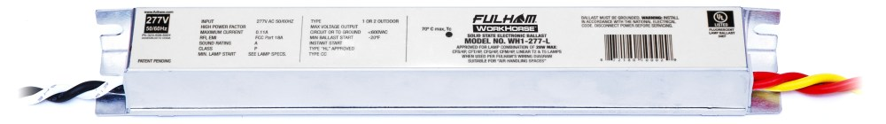 medium resolution of fulham wh1 277 l workhorse 1 277v linear model w