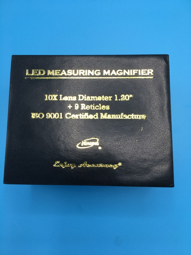 iGAGING-Measuring-Magnifier-Comparator-8-LED-Lighted-Loupe-10X-9-Reticles -  Ideaengineering us