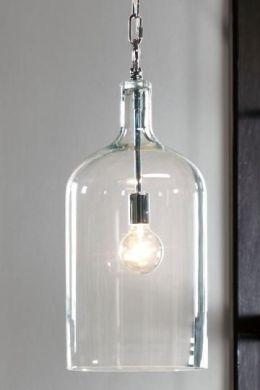 lampada vetro stile industrial chic arredo bagno