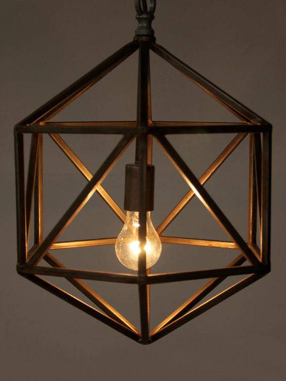 lampadario bronzo stile industrial chic arredo bagno  Ideagroup Blog