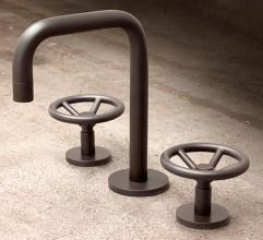 rubinetteria stile industrial chic arredo bagno