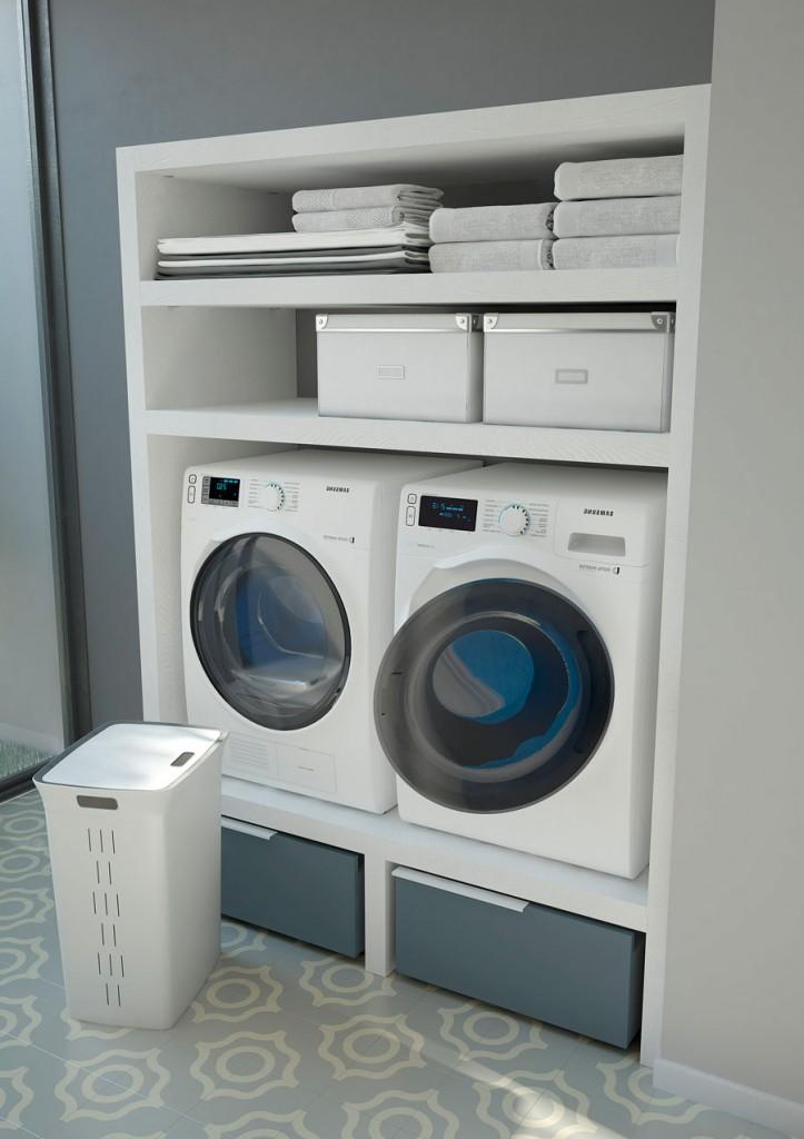 Spazio Time mobili per lavanderia soluzioni per bagno