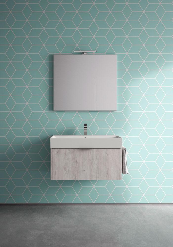 Basic mobili bagno minimal per un bagno funzionale  Ideagroup