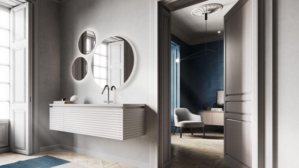 Mobile bagno moderno economico idee per interni per la casa il giardino e la progettazione for Arredo bagno moderno economico