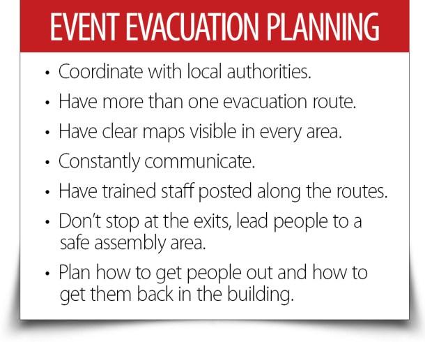 event evacuation