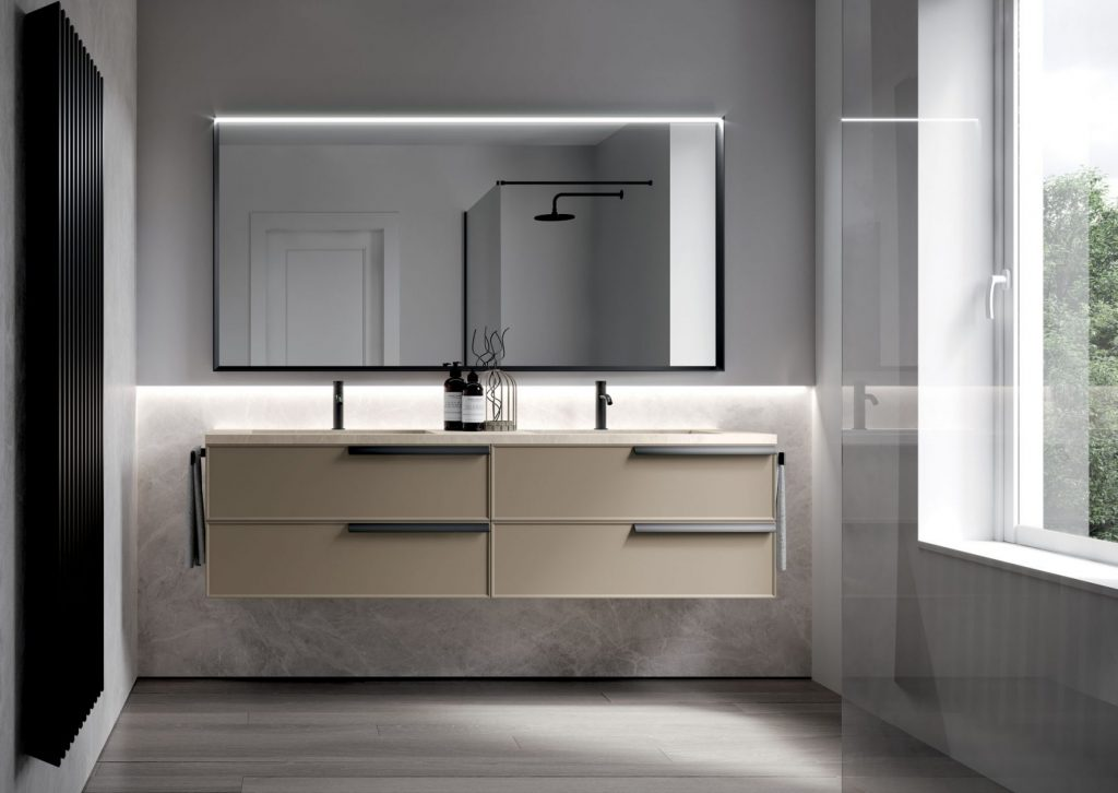 Form floorstanding and suspended bathroom cabinets