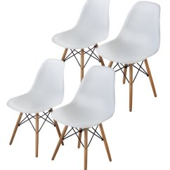 Mid Century Modern Plastic Chairs Behind The Chair Ombre Top 10 Best Eames Reviewed In 2018 Buschman Set Of Four Dining Room