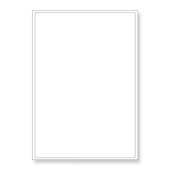 A4 SHEETS OF (199.6 x 289.1mm) SELF ADHESIVE LABELS