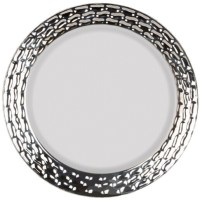 "EaMaSy Party 10.25"" Marbella Dinnerware White Silver"
