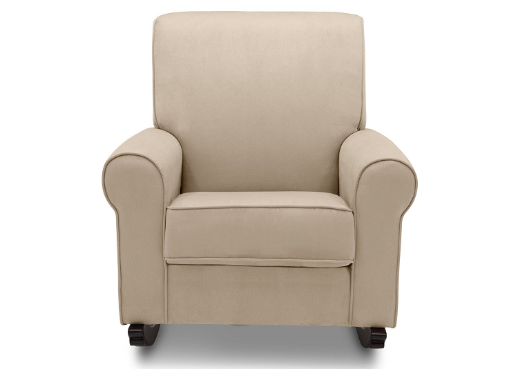 delta avery nursery glider chair grey rectangular leg caps children rowen upholstered rocker ecru ideal baby sand