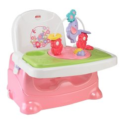 Elephant High Chair How To Install Hanging Fisher Price Pretty In Pink Booster Seat Ideal Baby