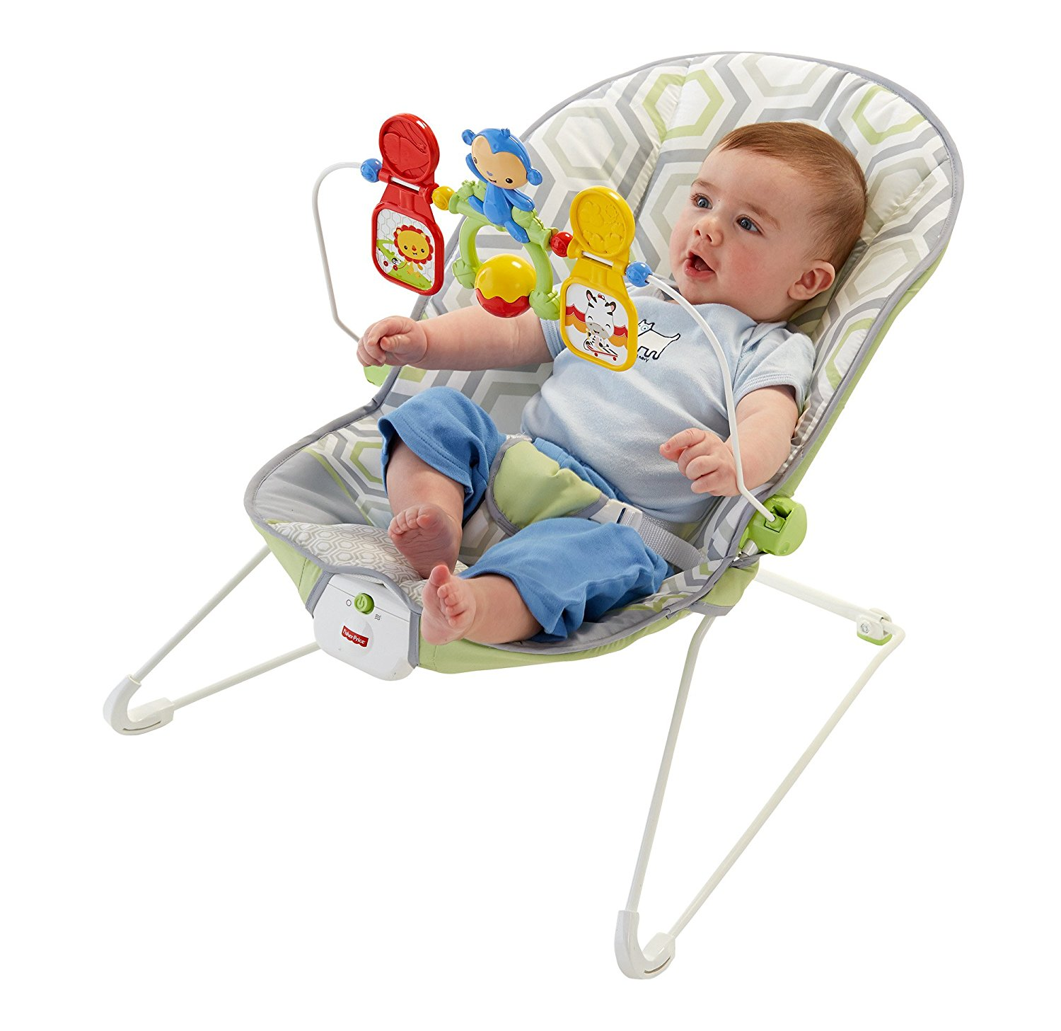 Fisher Prince Babys Bouncer  Geo Meadow  Ideal Baby