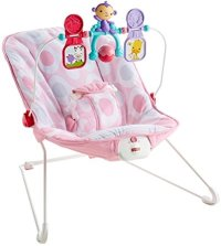 Fisher Price Basic Bouncer Pink Ellipse - Ideal Baby