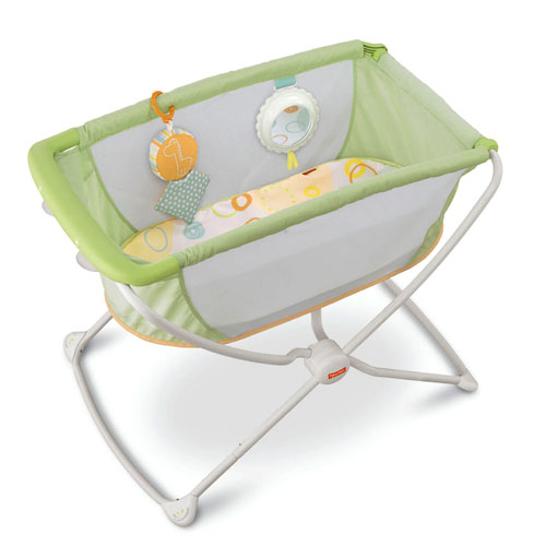 Fisher Price Rock 39n Play Portable Bassinet Green