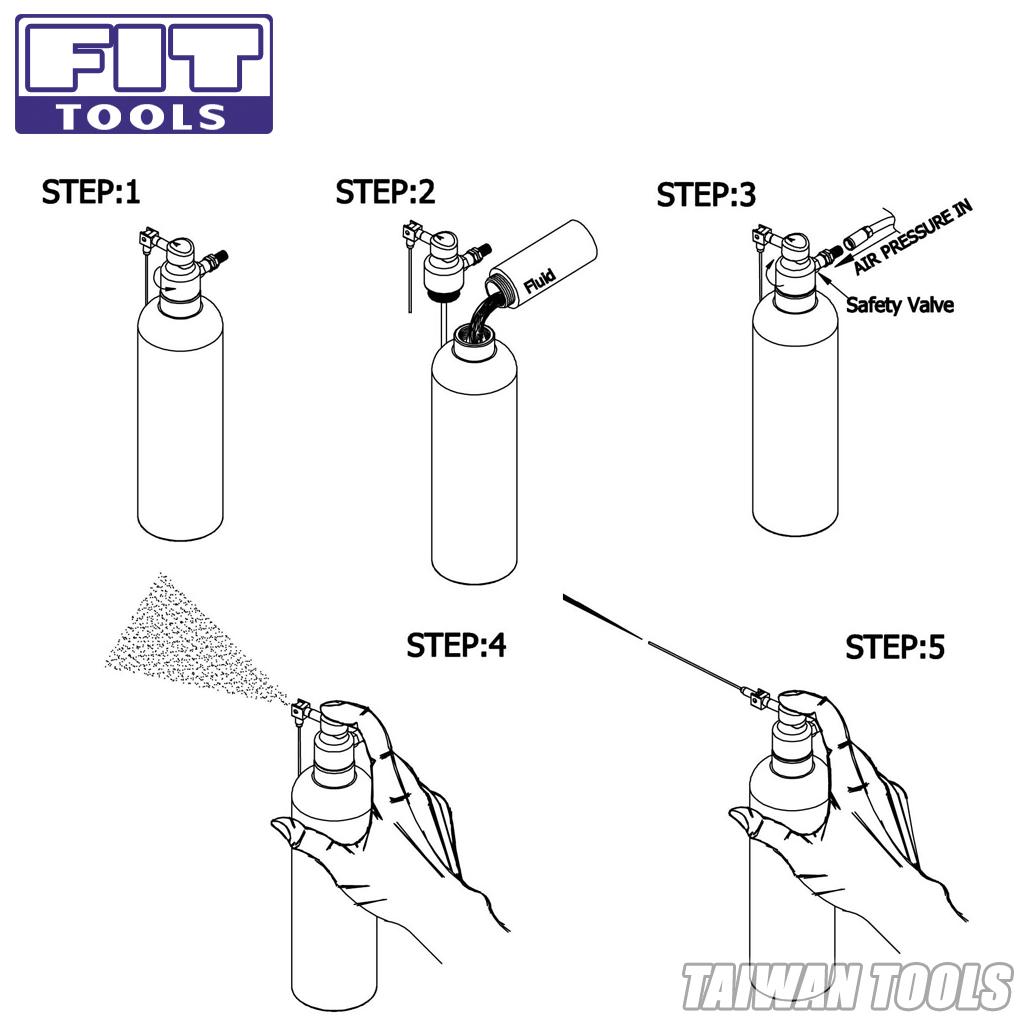 【FIT TOOLS】Aluminum Can Air / Pneumatic Refillable
