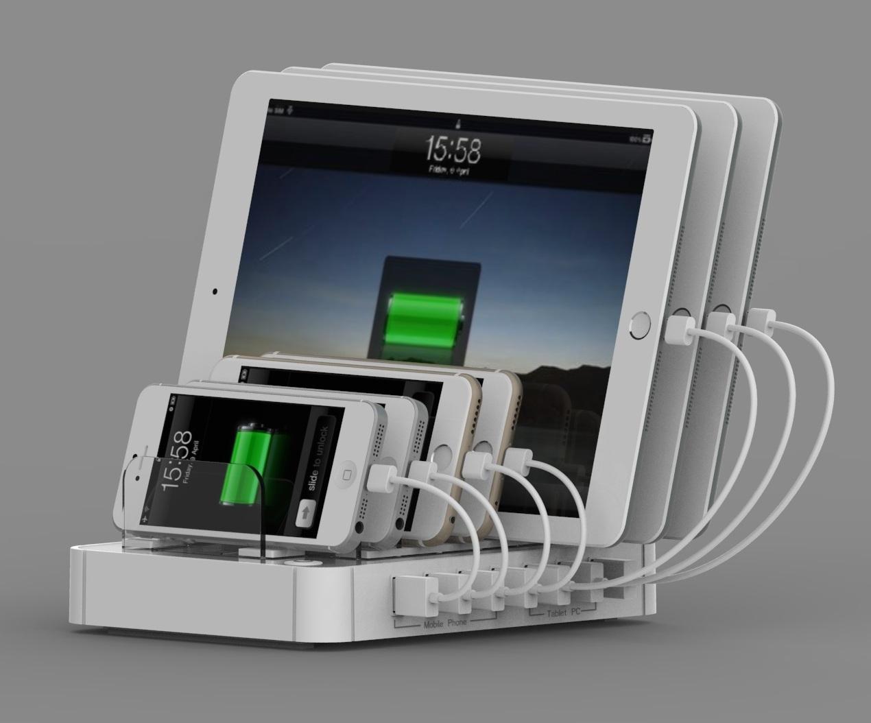 7 PORT USB CHARGER STATIONConsumer Electronics