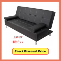 Sofa Bed Malaysia Murah With Ottoman The Reasons To Buy A Ideal Home Furniture Sofabed Black Offer Jualan