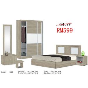 bedroom, set katil, set tidur, set katil tilam