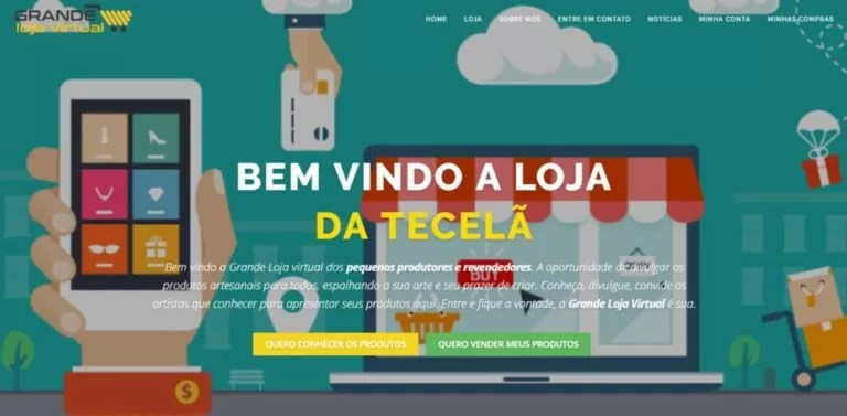 Desenvolvimento de site responsivo para Grande loja virtual