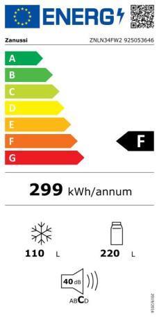 Combina frigorifica Zanussi ZNLN34FW2 clasa F - Pret avantajos - Ideall.ro