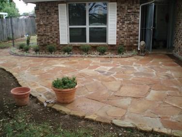 flagstone patio, outdoor living