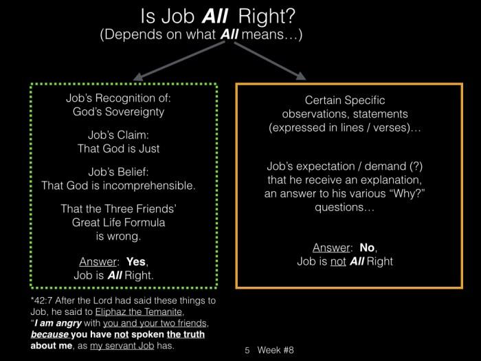 Book of Job, Week #8 LB .005
