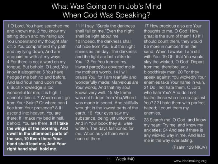 Book of Job, Week #40B.011