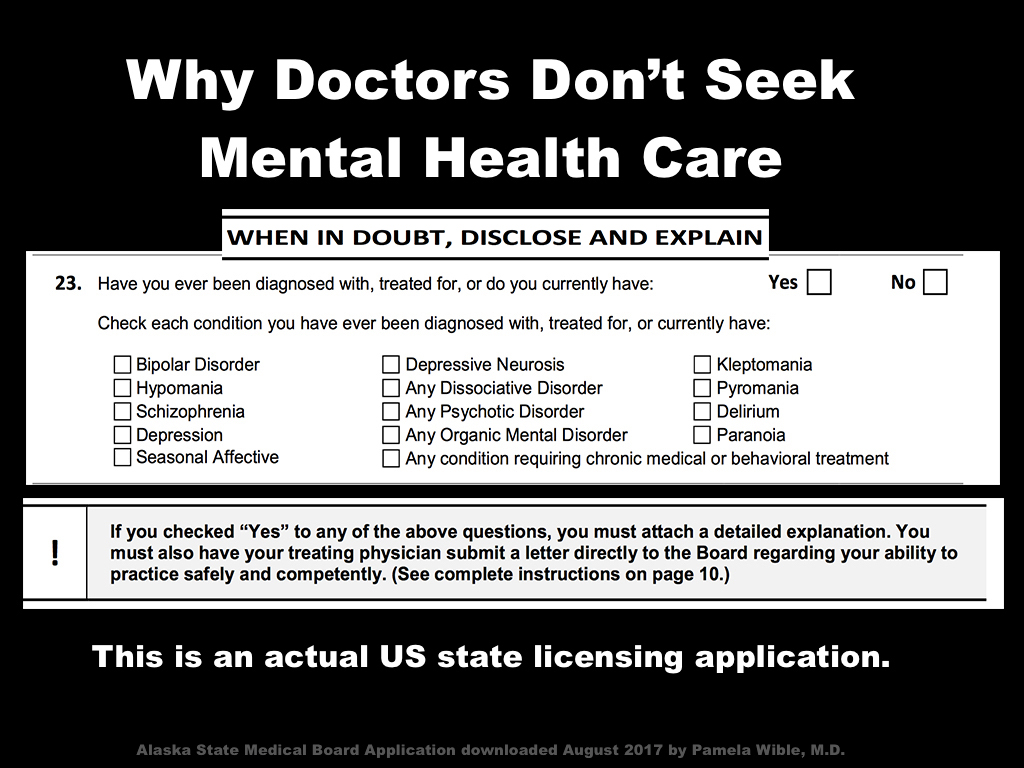 Why Doctors Don T Seek Mental Health Care