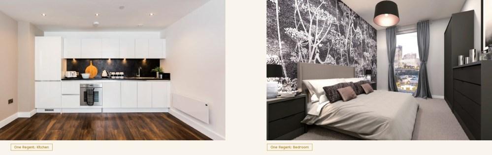 One Regent Manchester_Kitchen & Bedroom