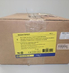 square d 9422atdf631 60 amp 600vac fusible disconnect switch and handle mechanism new in box [ 2592 x 1944 Pixel ]