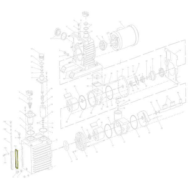 Oerlikon Leybold Sight Glass Gasket for D30A D30 A D 30A