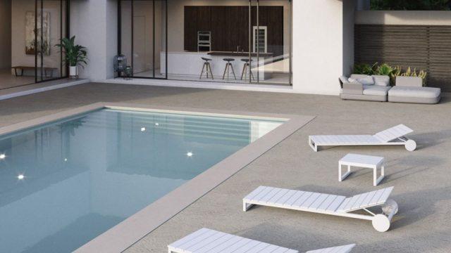 Pavimento rasico da esterno bordo piscina sardegna