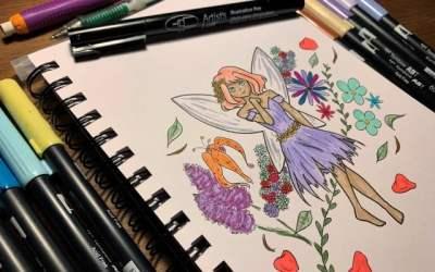 Draw a fairy