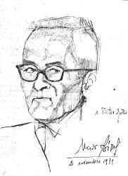 Pietro Gatti in un disegno di Uccio Biondi