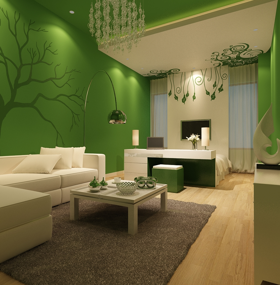 Green Living Room Ideas in East Hampton New York  Ideas 4 Homes